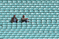 Spectators look on during Surrey CCC vs Essex CCC, Specsavers County Championship Division 1 Cricket at the Kia Oval on 12th April 2019