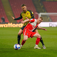 Daryl Horgan of Wycombe Wanderers during the Sky Bet Championship behind closed doors match between Watford and Wycombe Wanderers at Vicarage Road, Watford, England on 3 March 2021. Photo by David Horn.