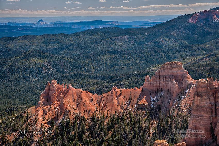 Red Ridge and Distant Mesas, Bryce Canyon, Utah