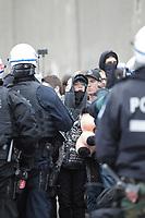 Manif anti brutalite policiere, mars 2015<br /> <br /> PHOTO : Agence Quebec Presse