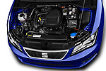 Car Stock 2017 Seat Leon Style 5 Door Hatchback Engine  high angle detail view