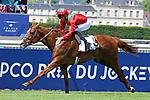 June 03, 2018, CHANTILLY, FRANCE - Waldgeist with Pierre-Charles Boudot up winning the Grand Prix de Chantilly (Gr. II) at Chantilly Race Course  [Copyright (c) Sandra Scherning/Eclipse Sportswire)]