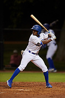 AZL Dodgers Lasorda Aldrich De Jongh (3) at bat during an Arizona League game against the AZL Athletics Green at Camelback Ranch on June 19, 2019 in Glendale, Arizona. AZL Dodgers Lasorda defeated AZL Athletics Green 9-5. (Zachary Lucy/Four Seam Images)