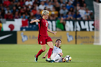 Carson, CA - Thursday August 03, 2017: Megan Rapinoe, Aya Sameshima during a 2017 Tournament of Nations match between the women's national teams of the United States (USA) and Japan (JPN) at the StubHub Center.