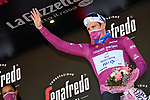 French Champion Arnaud Demare (FRA) Groupama-FDJ retains the points Maglia Ciclamino at the end of Stage 8 of the 103rd edition of the Giro d'Italia 2020 running 200km from Giovinazzo to Vieste, Sicily, Italy. 10th October 2020.  <br /> Picture: LaPresse/Gian Mattia D'Alberto | Cyclefile<br /> <br /> All photos usage must carry mandatory copyright credit (© Cyclefile | LaPresse/Gian Mattia D'Alberto)