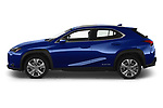 Car Driver side profile view of a 2021 Lexus UX-300e Privilege 5 Door SUV Side View