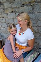 Estonia, Muhu Island. Muhu Jaanalind, guest house and farm. Elizabeth Rumar (Daughter & owner), Helena Erik (mother & owner).