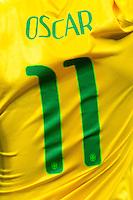 The shirt of Oscar of Brazil