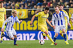 Bruno Soriano Llido of Villarreal CF battles for the ball with David Zurutuza Veillet of Real Sociedad during their Copa del Rey 2016-17 Round of 16 match between Villarreal and Real Sociedad at the Estadio El Madrigal on 11 January 2017 in Villarreal, Spain. Photo by Maria Jose Segovia Carmona / Power Sport Images