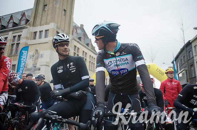 Tom Boonen (BEL/OPQS) & Stijn Vandenbergh (BEL/OPQS) at the start<br /> <br /> Dwars Door Vlaanderen 2014