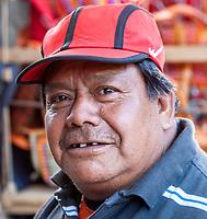 Chichicastenango, Guatemala.  Quiche (Kiche, K'iche') Indian Man in the Market.