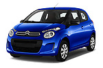 2018 Citroen C1 Feel 5 Door Hatchback angular front stock photos of front three quarter view