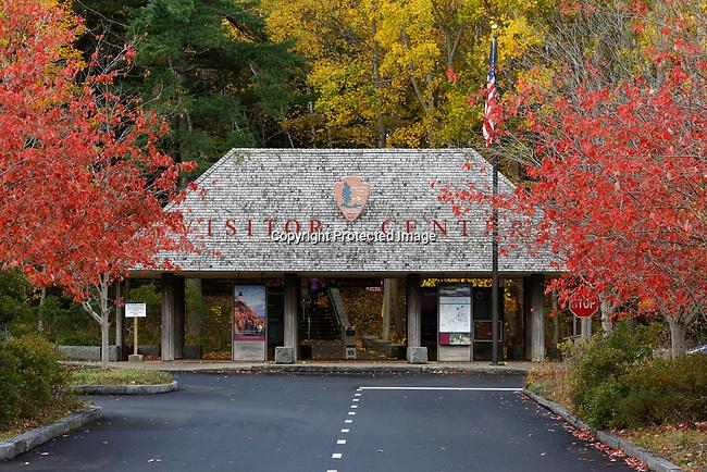Fall view of the Visitors Center, Acadia National Park, Bar Harbor, Hancock County, Maine, USA