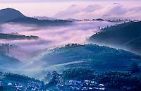 Ketti Valley at sunrise, Western Ghats, Tamil Nadu, India.