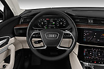 Car pictures of steering wheel view of a 2019 Audi e-tron Prestige 5 Door SUV