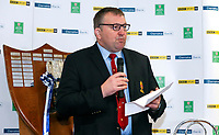 Monday 27th January 2020 | Ulster Schools' Cup Draw<br /> <br /> Ulster Branch President Gary Leslie at the draw for the Ulster Schools' Cup Quarter Finals held at Kingspan Stadium, Ravenhill Park, Belfast, Northern Ireland. Fixtures to be played on or before 8 Feb 2020.  Photo credit - John Dickson DICKSONDIGITAL