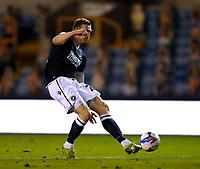 21st November 2020; The Den, Bermondsey, London, England; English Championship Football, Millwall Football Club versus Cardiff City; Jon Daoi Boovarsson of Millwall taking a shot but goes wide