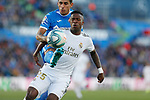 Real Madrid CF's Vinicius Jr and Getafe CF's Damian Suarez competes for the ball during the Spanish La Liga match round 19 between Getafe CF and Real Madrid at Santiago Bernabeu Stadium in Madrid, Spain during La Liga match. Jan 04, 2020. (ALTERPHOTOS/Manu R.B.)