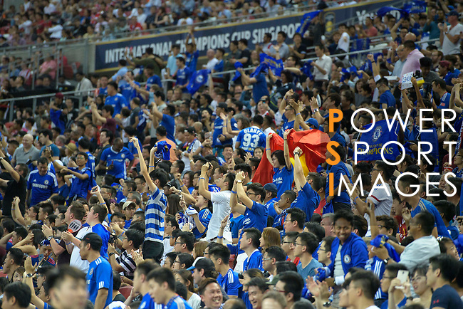 Chelsea fans during the International Champions Cup match between Chelsea FC and FC Bayern Munich at National Stadium on July 25, 2017 in Singapore. Photo by Marcio Rodrigo Machado / Power Sport Images