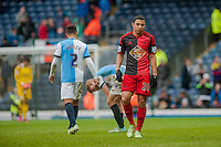 BLACKBURN, ENGLAND - JANUARY 24:   during the FA Cup Fourth Round match between Blackburn Rovers and Swansea City at Ewood park on January 24, 2015 in Blackburn, England.  (Photo by Athena Pictures/Getty Images)
