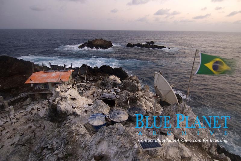 Field research station, St. Peter and St. Paul's rocks, Brazil, Atlantic Ocean