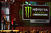 Monster Energy NASCAR Cup Series<br /> Champion's Week and Series Awards<br /> Las Vegas, NV USA<br /> Thursday 30 November 2017<br /> Brian France and Martin Truex Jr, Furniture Row Racing, Bass Pro Shops/TRACKER BOATS Toyota Camry during the Series Awards Show<br /> World Copyright: Nigel Kinrade<br /> LAT Images