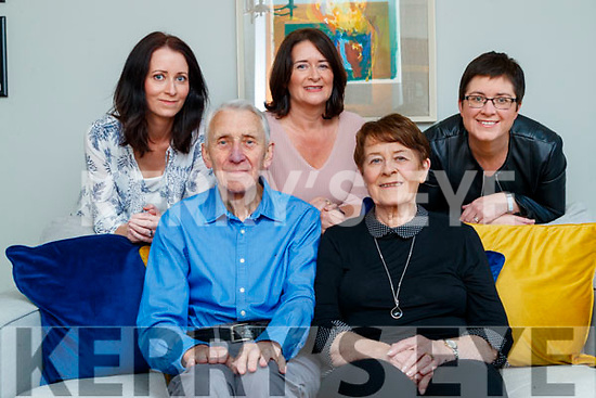 Therese and Tim Collins celebrating their 50th annivsary at home in Clogherbrien with their daughters Emma, Paula and Maeve.