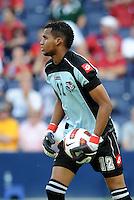 Luis Mejia Panama goalkeeper...Canada and Panama tied 1-1 in Gold Cup play at LIVESTRONG Sporting Park, Kansas City, Kansas.