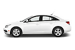 Car Driver side profile view of a 2015 Chevrolet Cruze 4-Door Sedan 2LT Automatic 4 Door  Side View