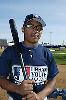 February 10 2008: Cameron Hart participates in a MLB pre draft workout for high school players at the Urban Youth Academy in Compton,CA.  Photo by Larry Goren/Four Seam Images