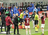Milano 14-03-2021<br /> Stadio Giuseppe Meazza<br /> Serie A  Tim 2020/21<br /> Milan - Napoli<br /> Nella foto: la farsa del var                                     <br /> Antonio Saia