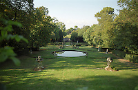 Chateau St Martin de la Garrigue. Languedoc. In the garden. France. Europe.