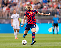 EAST HARTFORD, CT - JULY 5: Samantha Mewis #3 of the USWNT takes a shot during a game between Mexico and USWNT at Rentschler Field on July 5, 2021 in East Hartford, Connecticut.