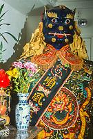 Ma Tsu Temple, a Taoist Temple, Chinatown, San Francisco, California, USA. Statue representing mythical deity.