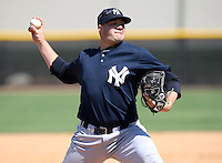 March 26, 2010:  Pitcher Ryan Flannery of the New York Yankees organization during Spring Training at the Yankees Minor League Complex in Tampa, FL.  Photo By Mike Janes/Four Seam Images