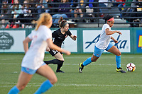 Portland, OR - Sunday March 11, 2018: Sam Johnson during a National Women's Soccer League (NWSL) pre season match between the Portland Thorns FC and the Chicago Red Stars at Merlo Field.