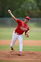 St. Louis Cardinals Steven Farinaro (18) during a minor league Spring Training game against the Washington Nationals on March 27, 2017 at the Roger Dean Stadium Complex in Jupiter, Florida.  (Mike Janes/Four Seam Images)