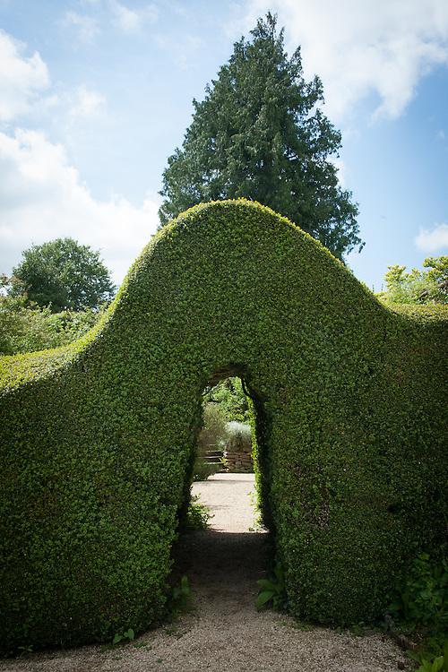 Doorway in box hedge, Rousham House and Garden.