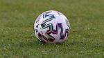 v.li.: Der Spielball liegt auf dem Spielfeld, Rasen, Gras, Boden, adidas, Uniforia, Symbolfoto, Symbolbild Fussball, Fußball, Ball, Offizieller Ball WEURO 2021, Offizieller Spielball, Offical Match Ball, Offical Matchball, DIE DFB-RICHTLINIEN UNTERSAGEN JEGLICHE NUTZUNG VON FOTOS ALS SEQUENZBILDER UND/ODER VIDEOÄHNLICHE FOTOSTRECKEN. DFB REGULATIONS PROHIBIT ANY USE OF PHOTOGRAPHS AS IMAGE SEQUENCES AN/OR QUASI-VIDEO., 21.02.2021, Aachen (Deutschland), Fussball, Länderspiel Frauen, Deutschland - Belgien <br /> <br /> Foto © PIX-Sportfotos *** Foto ist honorarpflichtig! *** Auf Anfrage in hoeherer Qualitaet/Aufloesung. Belegexemplar erbeten. Veroeffentlichung ausschliesslich fuer journalistisch-publizistische Zwecke. For editorial use only.