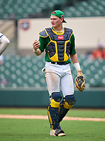 Steinbrenner Warriors catcher Tayden Hall during the 42nd Annual FACA All-Star Baseball Classic on June 5, 2021 at Joker Marchant Stadium in Lakeland, Florida.  (Mike Janes/Four Seam Images)