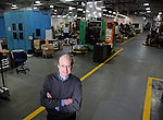 WATERTOWN, CT 12 JANUARY 2005 011205TM07<br /> Stephen T. Pearlman, who is President of the company, poses for a portrait on the factory floor. Mr. Pearlman is President of the Watertown based Crown Risdon, a company which manufactures containers for cosmetics. Toby Morris Photo