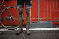 post-race legs<br /> <br /> U23 men's race<br /> <br /> UCI 2016 cyclocross World Championships / Zolder, Belgium