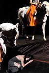 WE WERE HORSES....Choregraphie : CARLSON Carolyn BARTABAS..Mise en scene : CARLSON Carolyn BARTABAS..Compositeur : GLASS Philip..Compagnie : Centre choregraphique National Roubaix Nord Pas de Calais..Lumiere : BONNEAU Freddy..Costumes : ZINGIRO Chrystel..Avec :..Chinatsu Kosakatani..Celine Maufroid..Sara Orselli..Sara Simeoni..Alessandra Vigna..Hana Ahti..Caroline Finn..Antonia Vitti..Jacky Berger..Yutaka Nakata..Brahim Bouchelaghem..Juha Marsalo..Riccardo Meneghini..Nicolas Heraud..Carmelo Scarcella..Lazare Huet....ecuyers de l'Academie du spectacle equestre de Versailles Laure Guillaume..Emmanuel Dardenne..Emmanuelle Santni..Alexandra Buzon..Emilie Tallet..Anna Koslovskaya..Marie-Charlotte Tura-Dubois..Coline Le Clainche..Jeanne Linguinou..Lieu : Friche Industrielle Plastic Omnium..Cadre : BETHUNE 2011..Ville : Bruay La Buissiere..Le : 26 05 2011..© Laurent PAILLIER / photosdedanse.com..All rights reserved