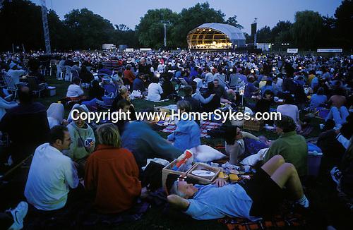 Marble Hill House Richmond Surrey open air festival concert. Open air summer classical concert at England 1990s UK.