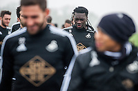 Thursday  21 January 2016<br /> Pictured: Bafetimbi Gomis of Swansea <br /> Re: Swansea City Training Session at the Fairwood training ground