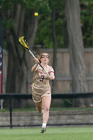NEWTON, MA - MAY 16: Annie Walsh #3 of Boston College passes the ball during NCAA Division I Women's Lacrosse Tournament second round game between Temple University and Boston College at Newton Campus Lacrosse Field on May 16, 2021 in Newton, Massachusetts.