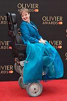 Athena Stevens<br /> arriving for the Olivier Awards 2019 at the Royal Albert Hall, London<br /> <br /> ©Ash Knotek  D3492  07/04/2019