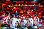 Florida State head coach Leonard Hamilton paces past his starting five players during player introductions of an NCAA college basketball game against Virginia in Tallahassee, Fla., Wednesday, Jan. 15, 2020.  (AP Photo/Mark Wallheiser)