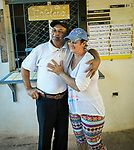 The couple set up their small restaurant in a neighborhood of Trinidad, Cuba for Cubans twelve years ago.   They serve egg sandwiches to locals in the morning..