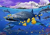 Interlitho, Lorenzo, FANTASY, paintings, sharks, fish, KL, KL4194,#fantasy# illustrations, pinturas